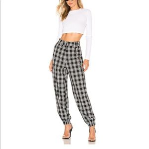 New I.Am.Gia Cobain Pants black white Check Med